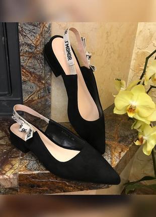 Женские туфли, слингбэки