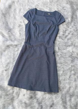 Платье с отрезной талией из костюмной ткани next
