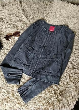 Серый джинсовый пиджак/куртка