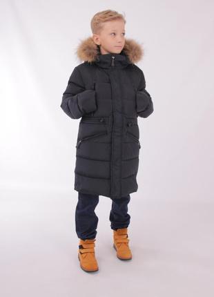 Зимнее пальто длинная куртка для мальчика snowimage