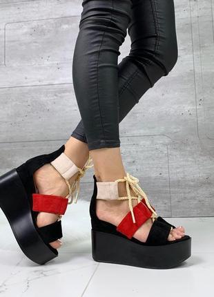 Новые шикарные женские босоножки на платформе босоніжки