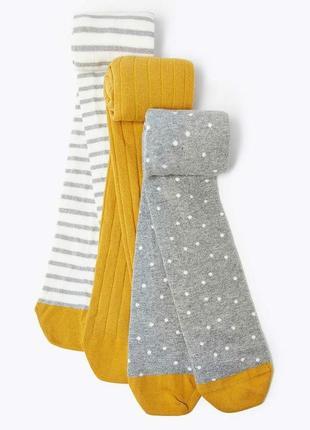 Красивые колготы, колготки, набор колгот для девочки marks&spenser, р. 2-3  и 3-4 г