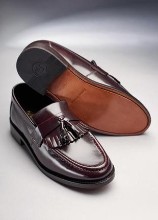 Кожаные туфли лоферы ручной работы samuel windsor