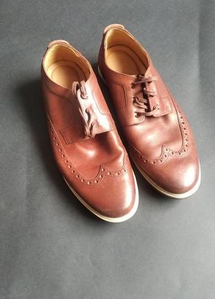 Стильные туфли оксфорды clarks мягкая кожа