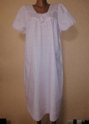 Новая женская красивая длинная ночная рубашка damart