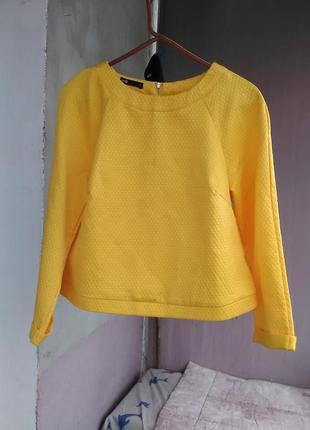 Красивая блуза с длинным рукавом/свитшот oodji