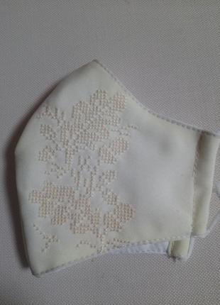 Многоразовая маска,ручная вышивка