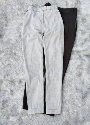 Базовые серые брюки штаны с высокой посадкой atmosphere