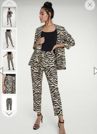 Летние брюки большого размера. зебра, анималистический принт
