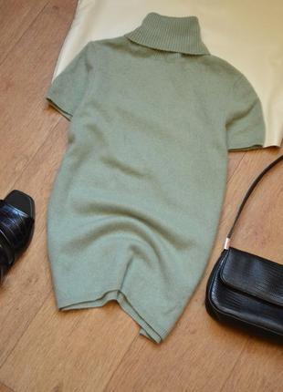 Кашемировый гольф топ футболка натуральный кашемир оригинал мята мягкая кофточка