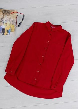 Женская бордовая рубашка
