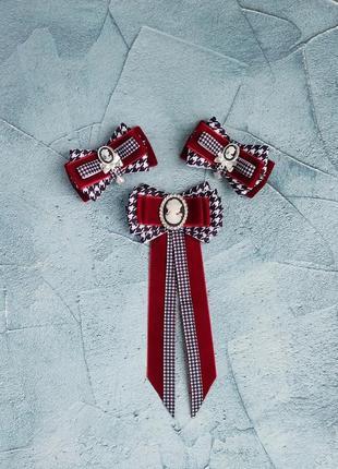 Стильний набір, заколочки і галстук