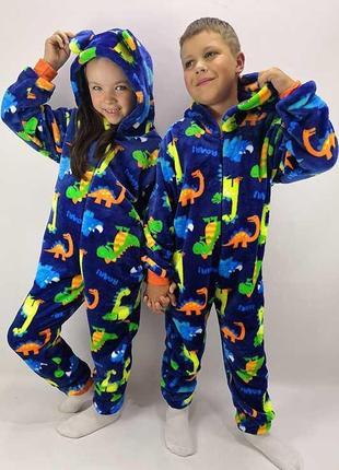 Кигуруми «дино»/пижама махровая/костюм для дома