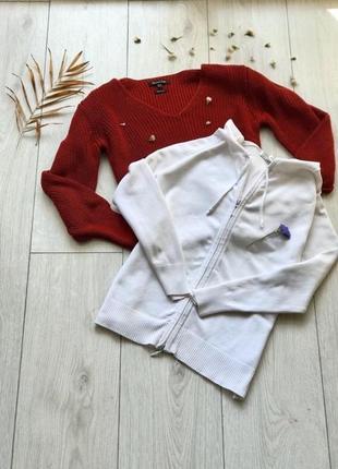 Біла кофта на замочку від zara‼️під джинси чи плаття🔥