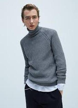 Крутой мужской свитер, водолазка zara - хл - на л, хл