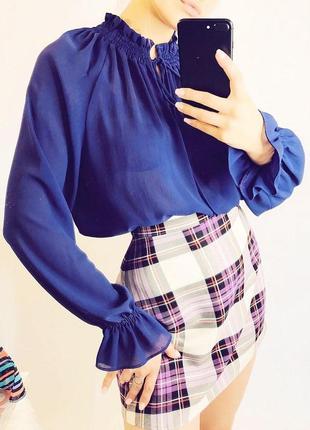 Фиолетовая блуза от marks&spencer |блуза|блузка|сорочка2 фото