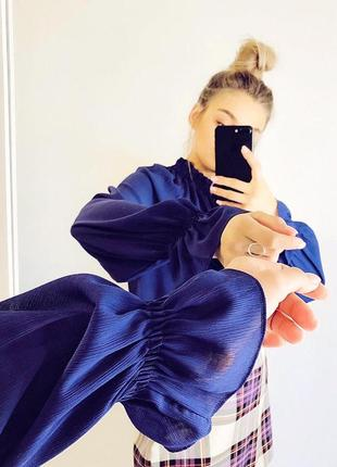 Фиолетовая блуза от marks&spencer |блуза|блузка|сорочка4 фото