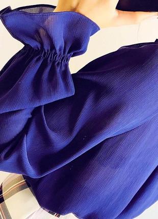 Фиолетовая блуза от marks&spencer |блуза|блузка|сорочка5 фото