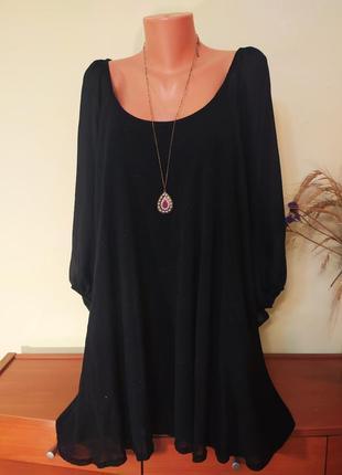 Красивая черная блуза большого размера от  marina kaneva