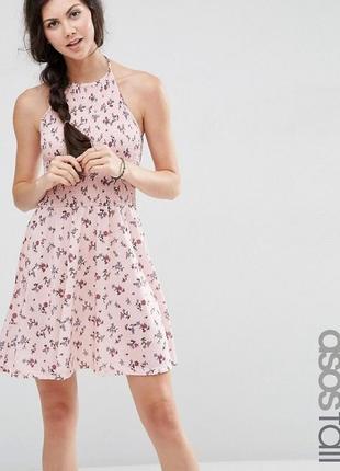 Нежное платье asos petite с открытыми плечами