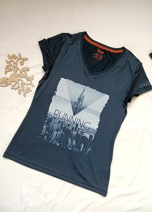 Спортивная футболка черного цвета от crivit, размер s-м