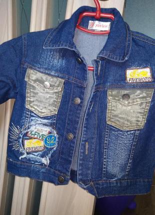 Класный джинсовый пиджак.