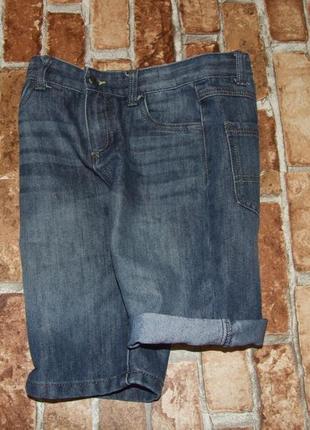 Шорты джинсовые мальчику бермуды 9 - 10 лет denim co