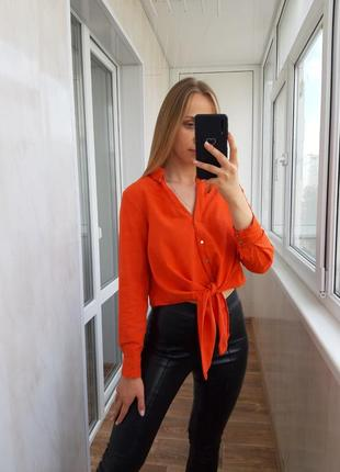 Яркая оранжевая рубашка river island