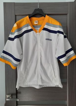 Спортивная винтажная куртка ветровка летняя свитшот размер xl
