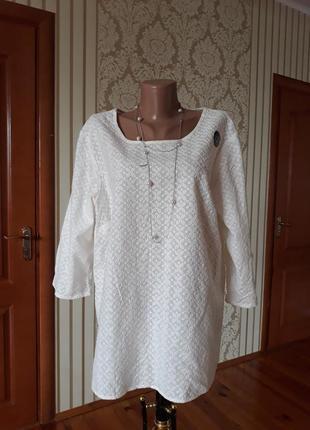Шикарная натуральная блузка решелье