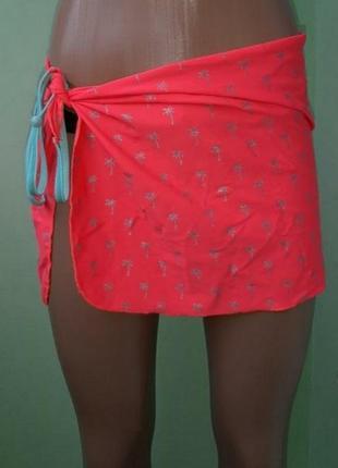 Брендовый пляжный платок ярко неонового цвета