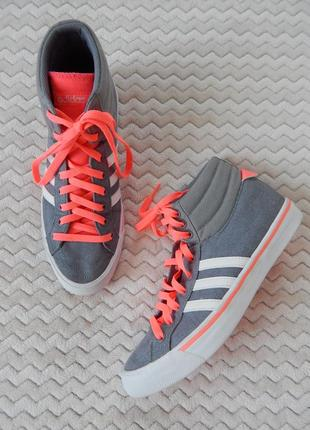 Яркие высокие кеды кроссовки яскраві високі кеди кросівки  adidas neo оригинал