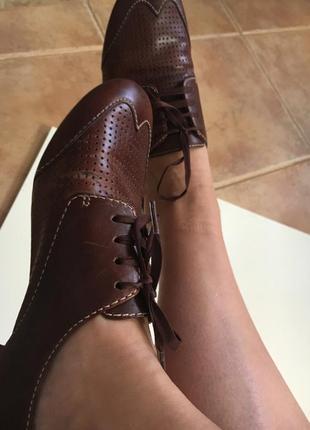 Кожаные туфли  стелька 24,5 см