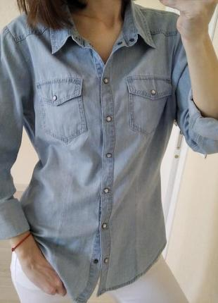 Джинсовая рубашка only р.40