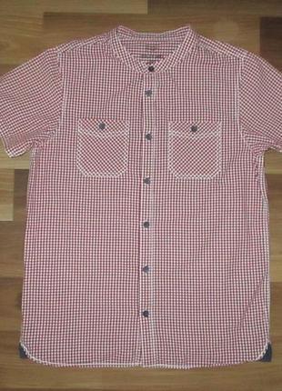 Клевая котоновая рубашечка в клетку фирмы f&f на 11-12 лет