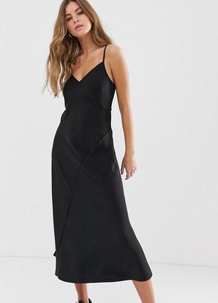 Платье slip dress в бельевом стиле миди new look