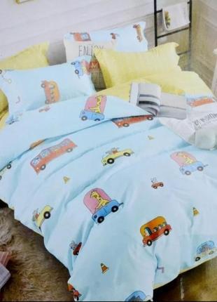Постельное белье в машинки для детей и подростков, качественное,  в стильном дизайне!