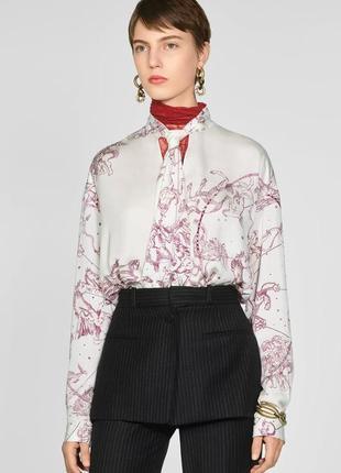 Шикарная лимитированная блуза от zara