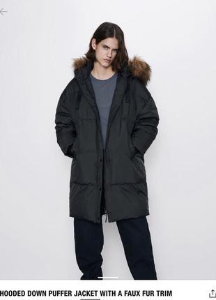 Zara, пуховик, зима, новий, розмір л