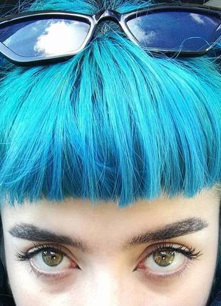 Turquoise. бірюзова фарба для волосся / бирюзовая краска для волос