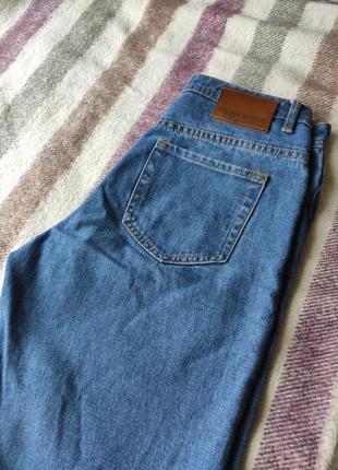 Синие mom джинсы на высокой посадке от oodji, мом джинс