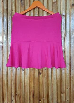 Розовая мини юбка stradivarius