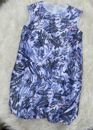 Шикарное платье с карманами в принт cos раз.xl
