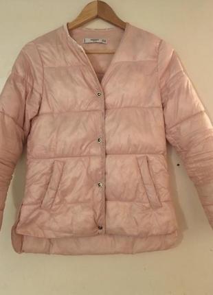 Куртка осеняя весенняя розовая пудра mango