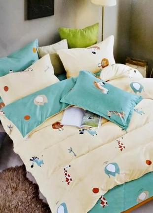 Постельное белье в зверюшки для детей и подростков, качественное,  в стильном дизайне!