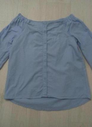Блузка спущенные плечи на резинке