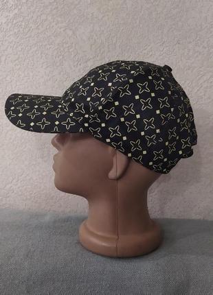 Черная кепка-шестиклинка из хлопка,новая