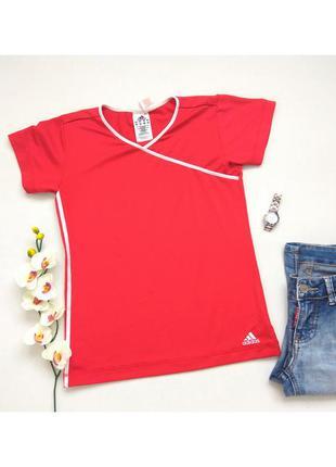 Красная спортивная футболка, футболка для спорта бренда adidas