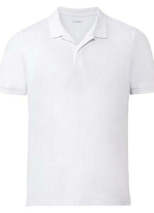 Белая футболка поло livergy l 52/54