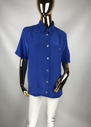 Винтажная шелковая итальянская рубашка gira puccino